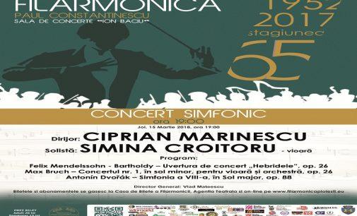 Concert simfonic de primăvară, sub bagheta dirijorului Ciprian Marinescu