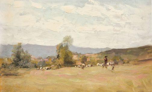 """Celebrul tablou """"Ciobănaş cu turmă de oi"""", adjudecat la licitație! Ce sumă a oferit cumpărătorul"""