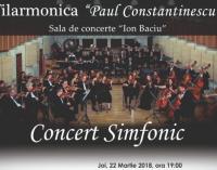 """""""Seară Ceaikovski"""" – Concert Simfonic – 22.03.2018"""